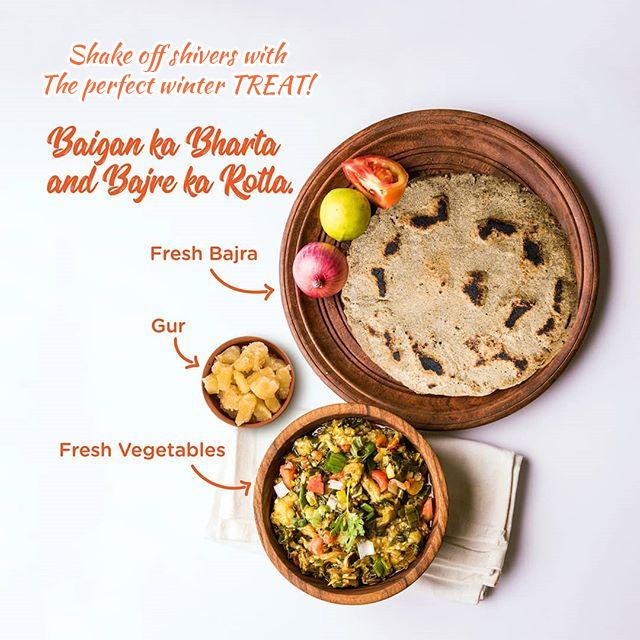 Bajara No Rotlo Ane Ringna No Bhadtho Recipe