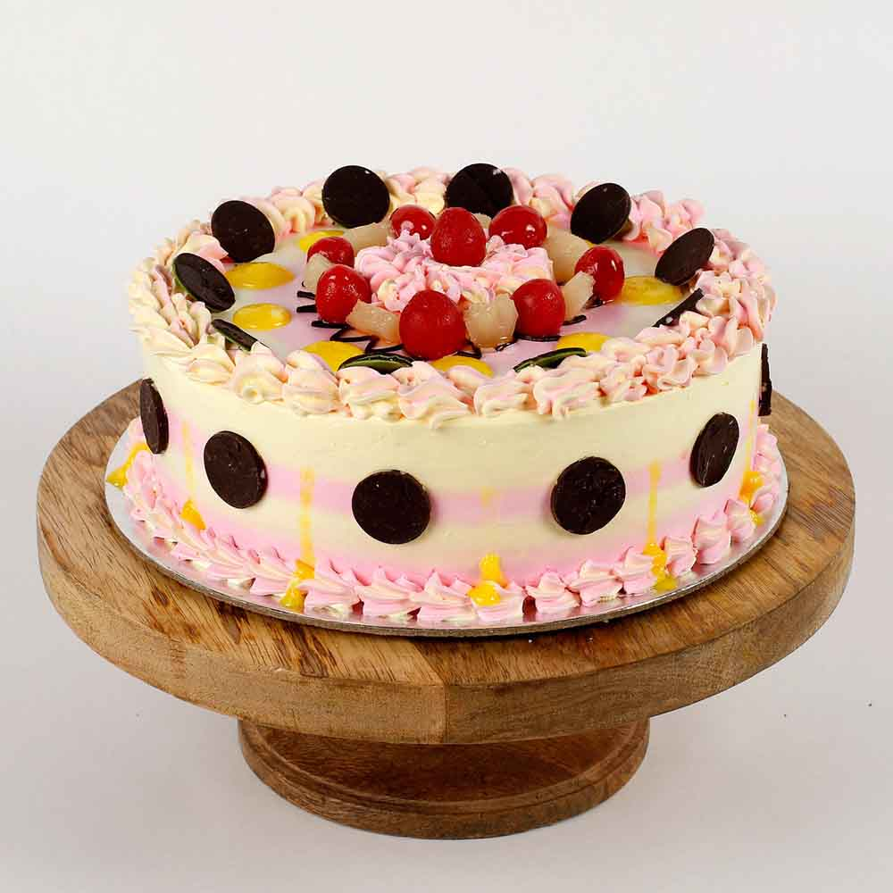 Holi Special Colorful Dryfruit Cake